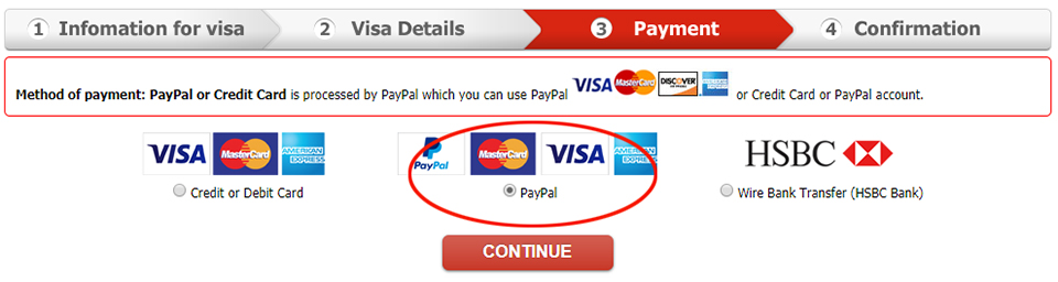 Payment via Paypal (www.paypal.com)